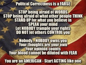 The only thing an American has to fear is fear itself!